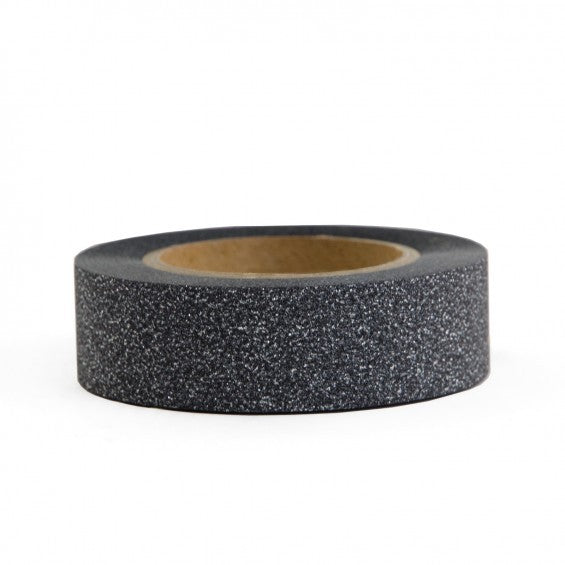 Black Glitter Adhesive Tape - Decochic