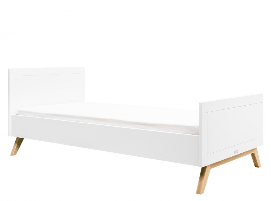 Single bed 90x200 Fenna White / Natural Bopita - Decochic