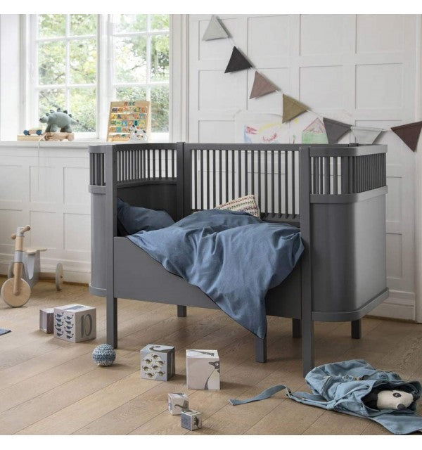 Gray Sebra Transformable Baby Bed - Decochic