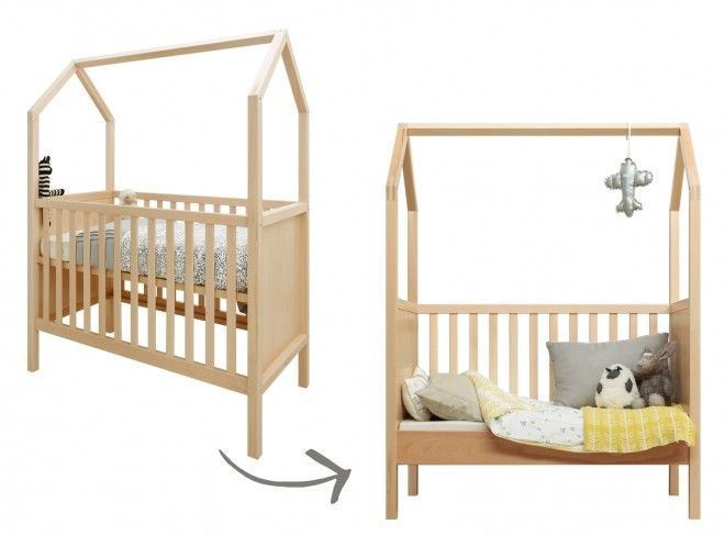 Lit enfant Transformable House 60x120 cm Bopita Wood - Decochic