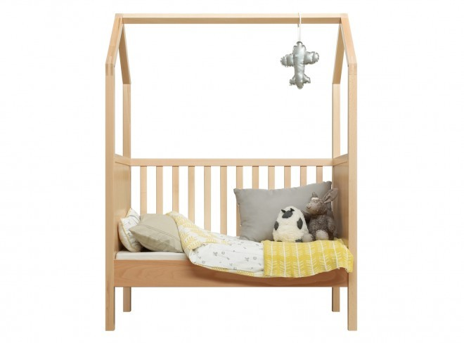 Children's Bed Transformable House 60x120 cm Bopita Wood - Decochic