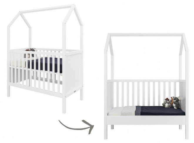 Transformable Toddler Bed 60x120 cm White Bopita - Decochic