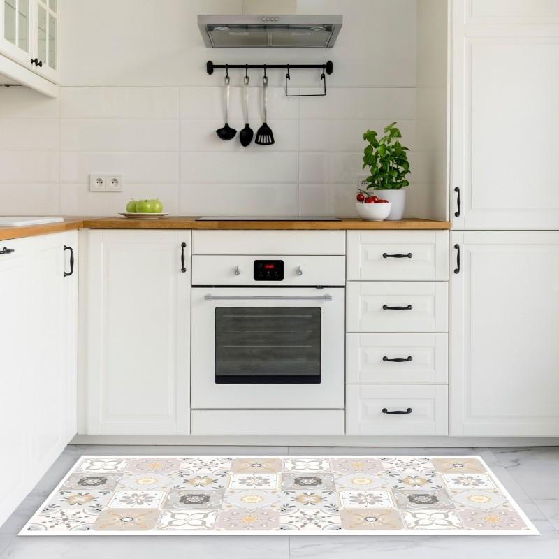 Vinyl Kitchen Mat Vintage Tile - Decochic
