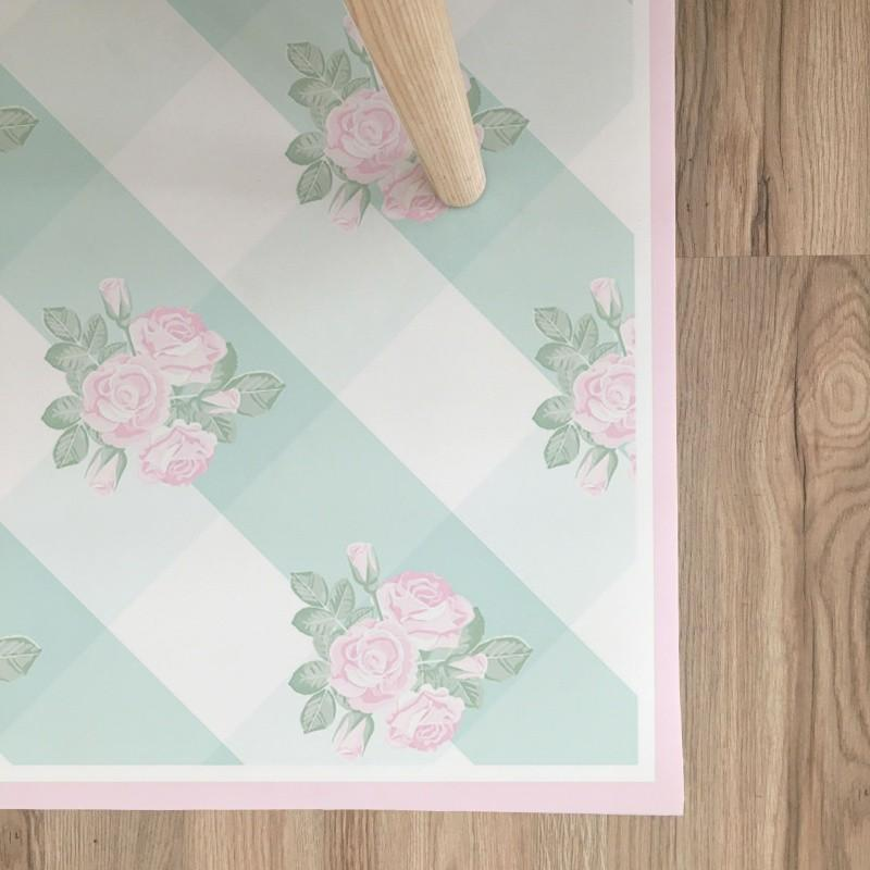 Tappeto in Vinile Vichy Shabby -3 Colori Disponibili - Decochic