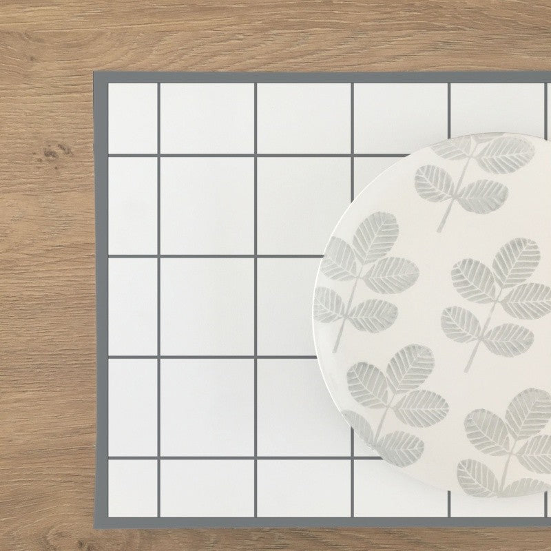 Checkered Vinyl Placemat - More Colors Available - Decochic