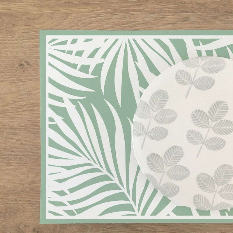 Vinyl Placemat Tropical Leaves-Multiple Colors Available - Decochic