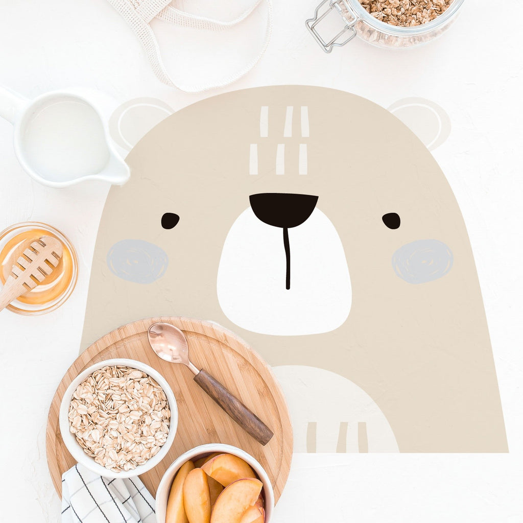 Set de table enfants en vinyle ours - Decochic