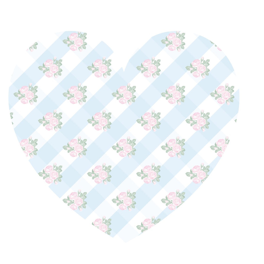 Vichy Shabby-3 Vinyl Heart Placemat Available Colors - Decochic