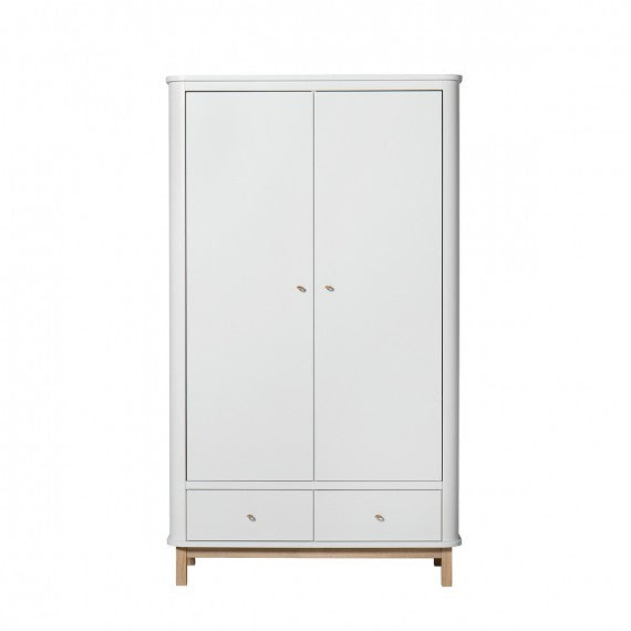 Cameretta Cameretta a 2 Ante Oliver Furniture White and Wood - Decochic
