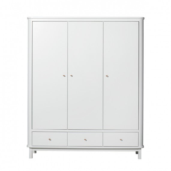 Kinderschrank bei 3 Ante Oliver Furniture White - Decochic