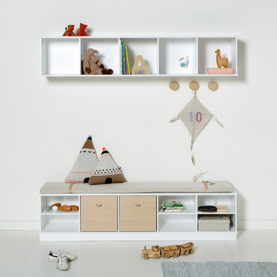 Holzregale für Kinderzimmer 5x1 Oliver Furniture - Decochic