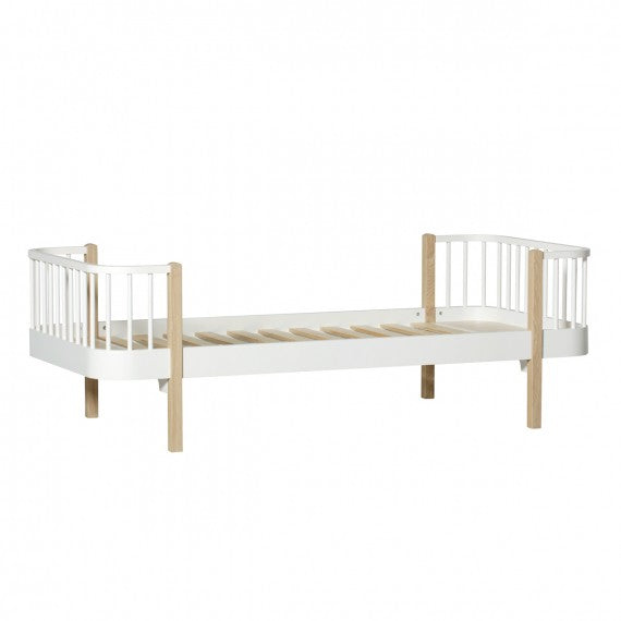 Letto Singolo Wood 90x200 cm Oliver Furniture-2 Colori Disponibili - Decochic