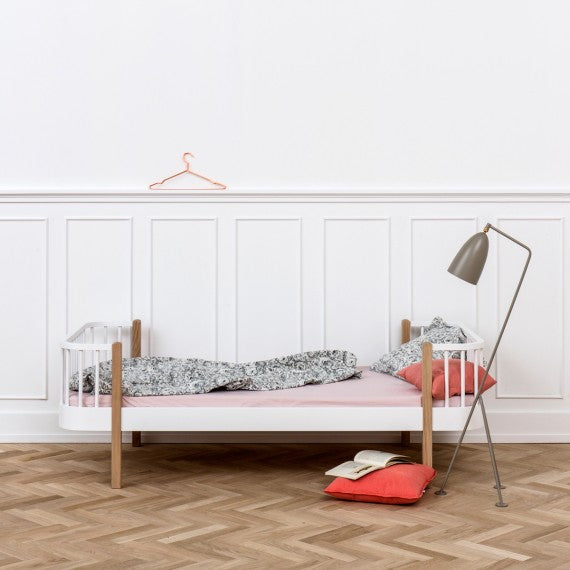 Single Wood Bed 90x200 cm Oliver Furniture-2 Available Colors - Decochic