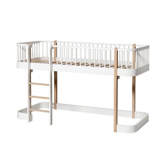 Low Loft Bed Wood Oliver Furniture- 2 Variantes Color - Decochic