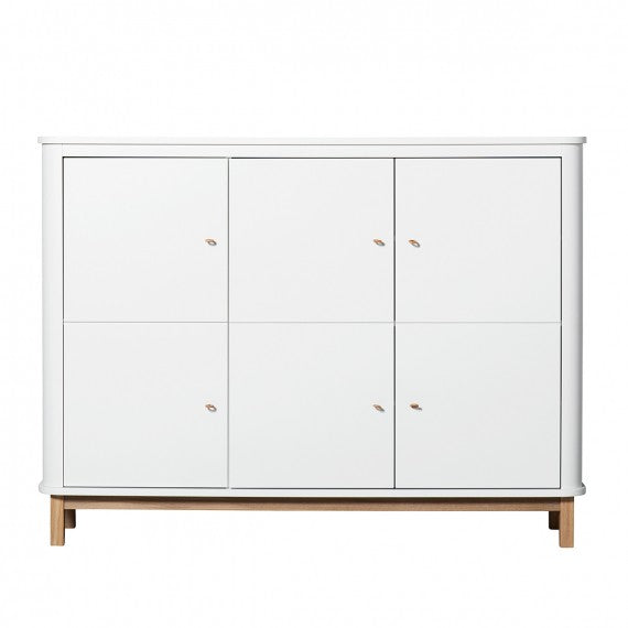 Small White and Wood Bedroom Cabinet Oliver Furniture - Decochic