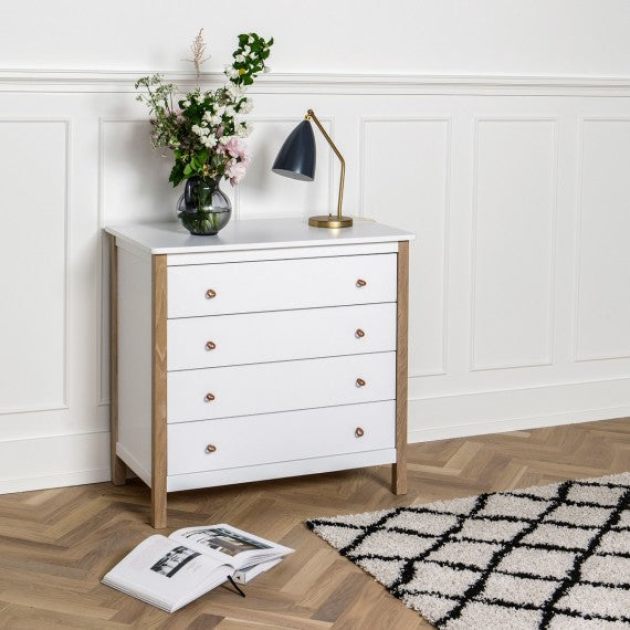 Cassettiera Fasciatoio Wood Oliver Furniture - Decochic