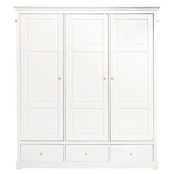 Cameretta Seaside Kleiderschrank mit 3 Türen Oliver Furniture - Decochic