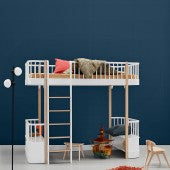 Loft Bed Wood Oliver Muebles-2 Variantes Color - Decochic