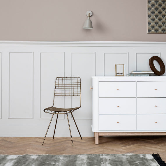 Oliver Furniture Wood Changing Dresser 6 drawers White and Wood - Decochic