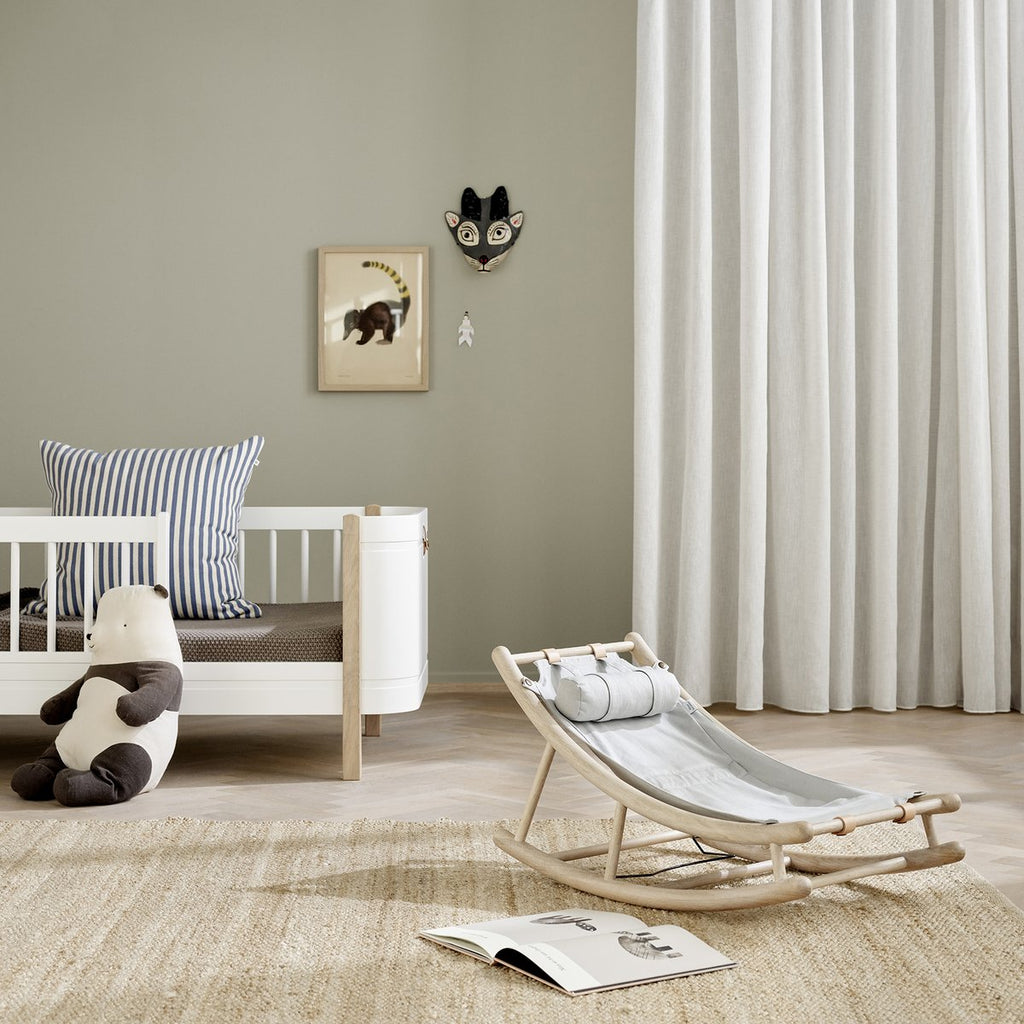Sedia a Dondolo in Legno Naturale Oliver Furniture - Decochic
