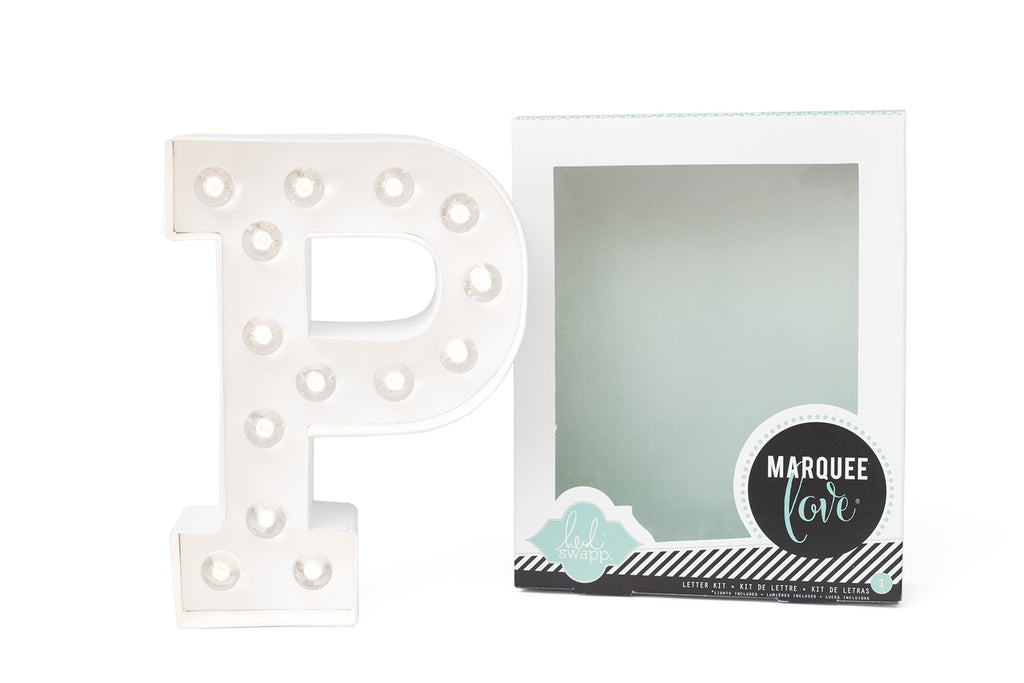 Kit Marquee Love-Lettera Personalizzabile Luminosa a LED 'P' - Decochic