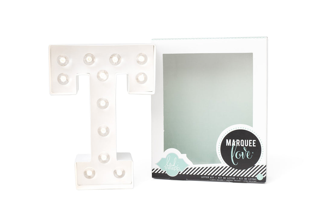 Kit Marquee Love-Lettera Personalizzabile Luminosa a LED 'T' - Decochic