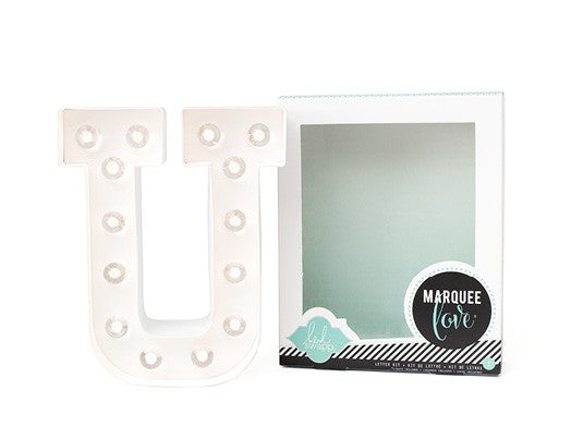 Marquee Love Kit-LED Letra personalizable 'U' - Decochic