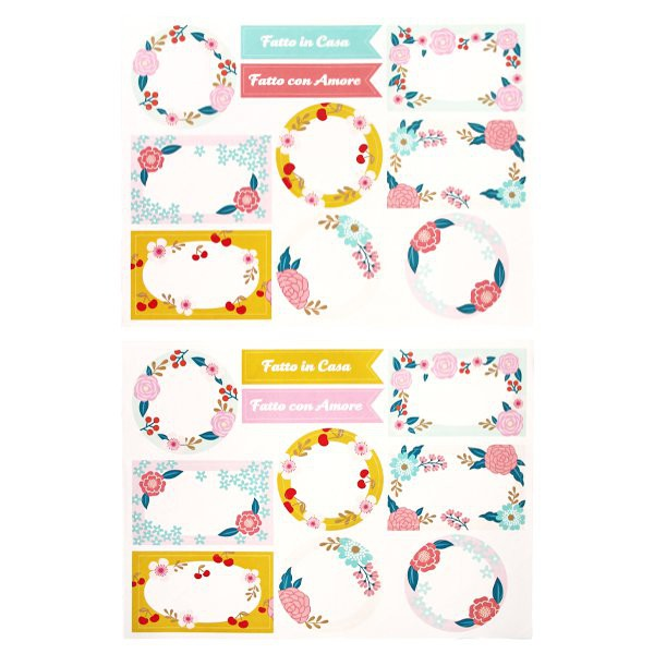 Flowers Paper Adhesive Labels - Decochic
