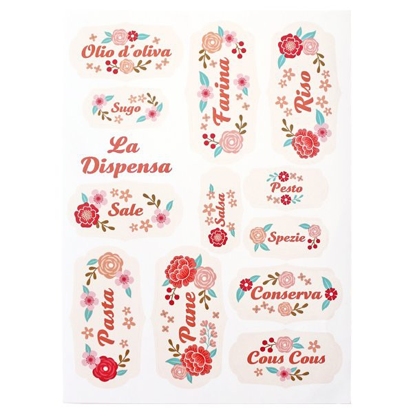 Die Pantry Washable Adhesive Labels - Decochic