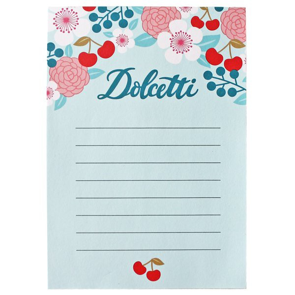 Bloc-notes de cuisine Dolcetti - Decochic