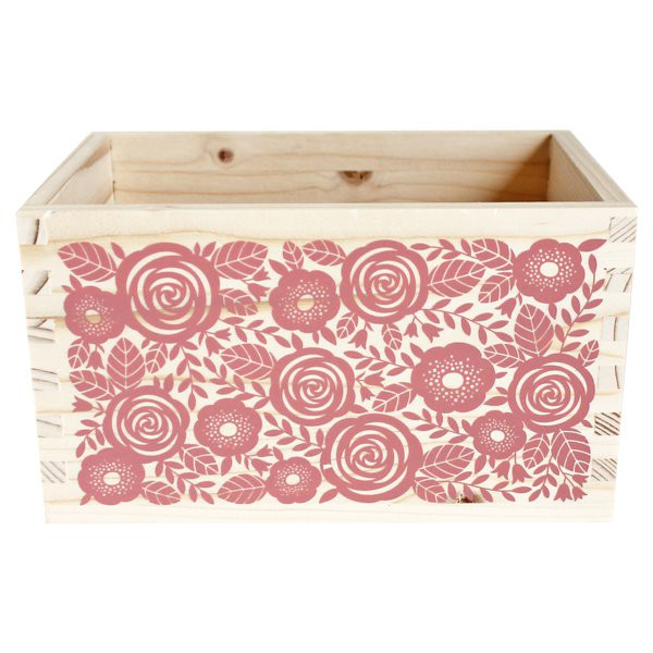 Projects Wooden Box for Projects with Dividers - Decochic
