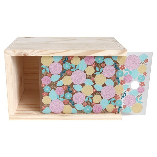 Yellow Flowers Wooden Box - Decochic