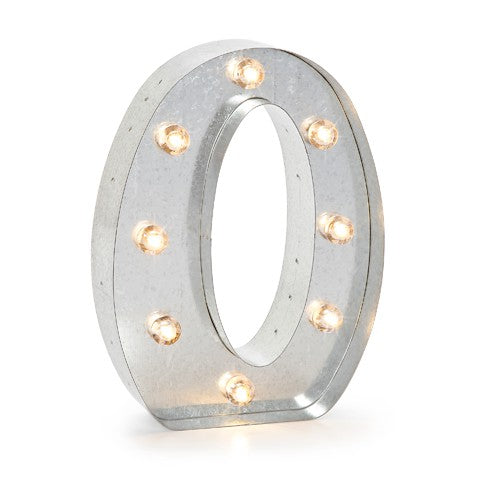 """O"" LED Light Metal Letter - Decochic"