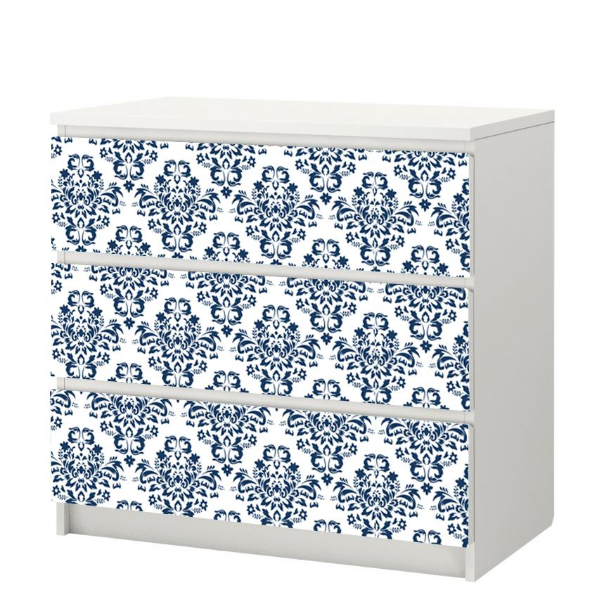 Damask Self-Adhesive White Background - More Colors Available - Decochic