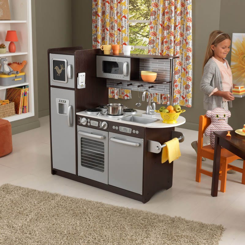 Uptown Espresso Kidkraft Wood Kitchen - Decochic