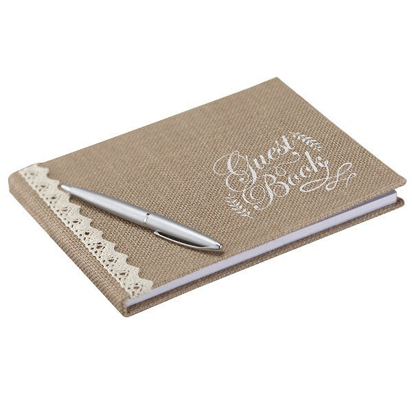 Wedding Guestbook in Jute - Decochic