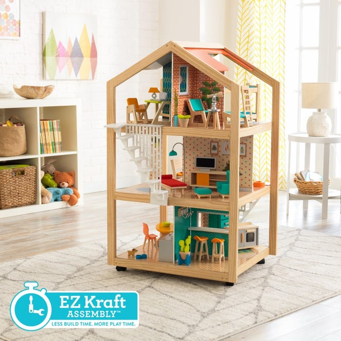 Casa delle Bambole So Stylish con Ez Kraft Assembly KidKraft - Decochic