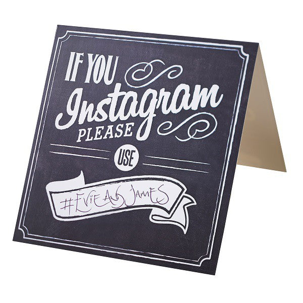 Tableau de cartes de nom Instagram - Decochic
