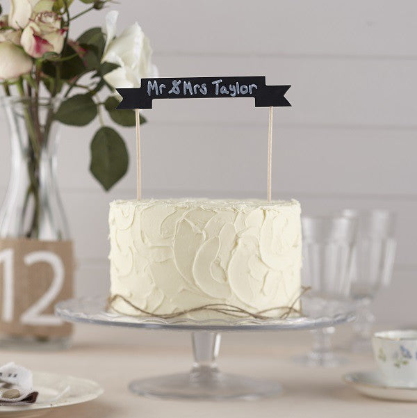 Bunting For Blackboard Cake - Decochic
