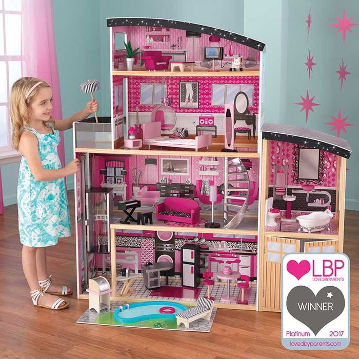 Sparkle Mansion KidKraft Dollhouse - Decochic