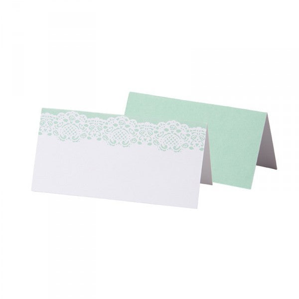 Place Card Mint Green and Lace - Decochic