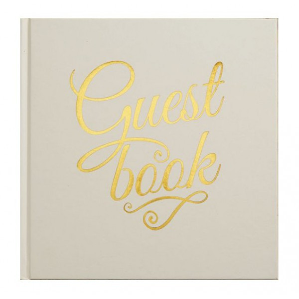 Guestbook Ivory and Gold - Decochic