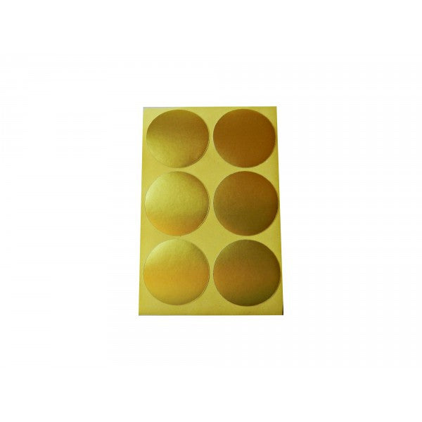 Gold Round Sticker Labels - Decochic