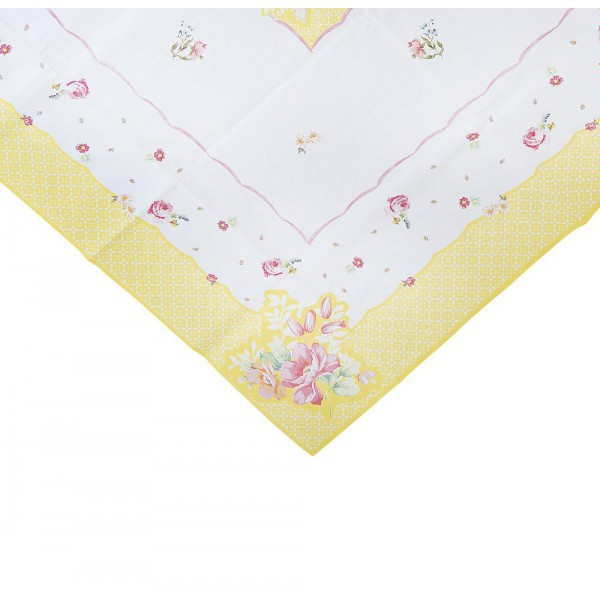 Paper Tablecloth with Flowers - Decochic