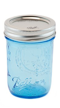 Glass Jar Ball Mason Jar Blue Jam - Decochic