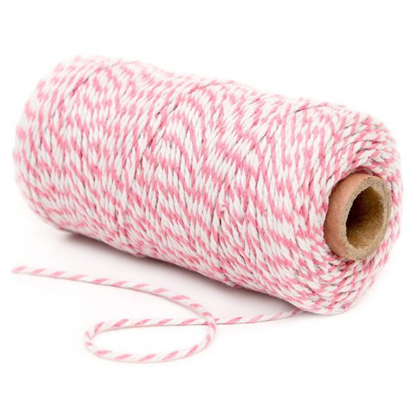 Twine Pink and White Decochic Bakers - Decochic