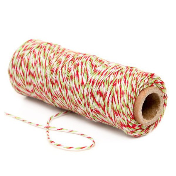 Spago Bakers Twine Verde, Rosso e Bianco