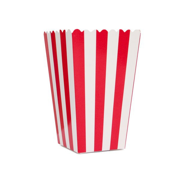 Scatoline Rosse a Righe Bianche per Pop Corn - Decochic