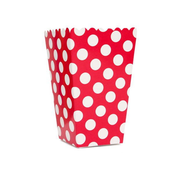 Red Polka Dot Boxes for Pop Corn - Decochic