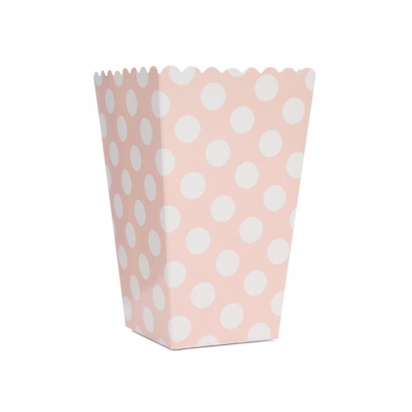 Pink Boxes with White Dots for Pop Corn - Decochic